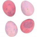 Quail egg natural matt, 2 colors, 3cm, pink matt